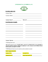 Small Business Drop Off Form